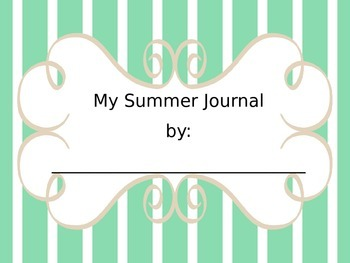 Summer Weekly Writing Journal
