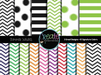 Summer Whites - Digital Papers