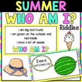 Summer Who Am I Riddles   Virtual & In Person Brain Break