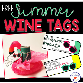Summer Wine Gift Tags- Free