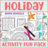 Summer & Winter Holiday Activity Bundle - Activities for Home