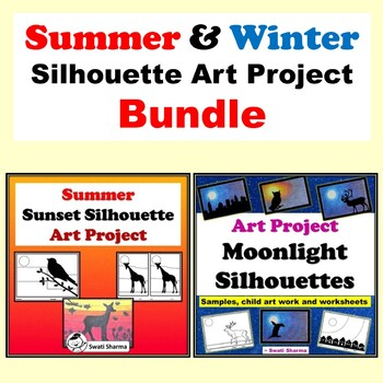 Summer & Winter Silhouette Art Project Bundle