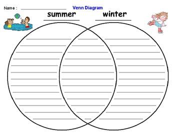 Seasonal: Summer Winter Venn Diagram