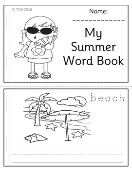 Summer Word Book