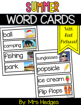 Summer Word Cards