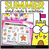Summer Word Cards and Activities