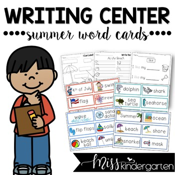 Writing Center Summer Word Cards