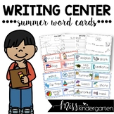Kindergarten Writing Activities {summer word cards}