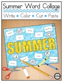 Summer Word Collage - Literacy, Handwriting, Fine Motor Skills