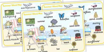 Summer Word Mat