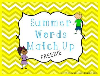Summer Word Match Up