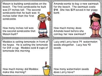 Summer Word Problem Cards