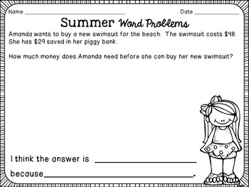 Summer Word Problem Cards
