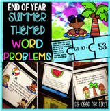 Summer Word Problems {QR Code Hunt, Task Cards & Puzzles}