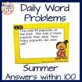 Summer Word Problems Within 100
