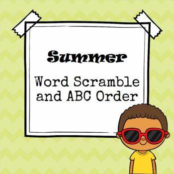Summer Word Scramble and ABC Order Cut and Paste