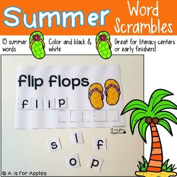 Summer Word Scrambles