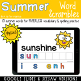 Summer Word Scrambles DIGITAL