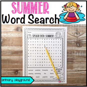 Summer Word Search Freebie!