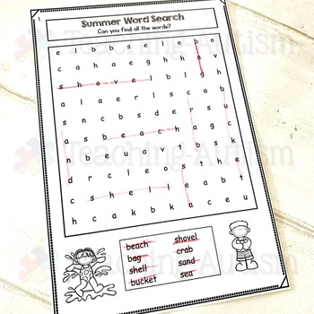 Summer Word Search