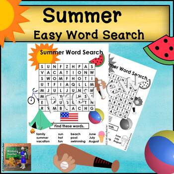 Summer Word Search *EASY