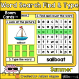 Summer Word Search Find & Type - Boom Cards - Digital Learning