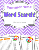 Summer Word Search Pack