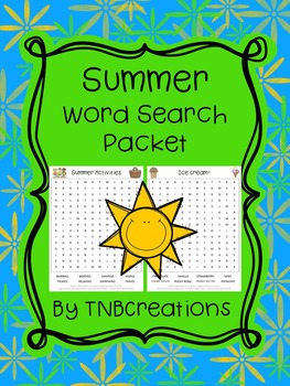 Summer Word Search Packet