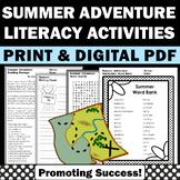 Fun Summer School Activities Vocabulary Sentence Writing Papers Digital Packet