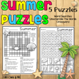 Summer Word Search Puzzles Crossword