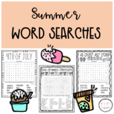 Summer Word Searches I Activities for Early Finishers or F