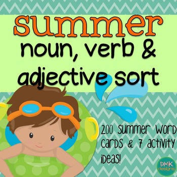 Summer Noun, Verb & Adjective Sort