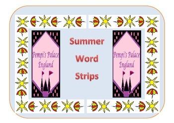 Summer Word Spelling Strips