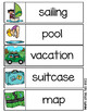 Summer Word Wall - 75 word cards, vocabulary list, worksheets
