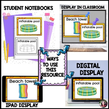 Summer Word Wall Cards