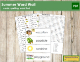 Summer Word Wall Cards, Plus!