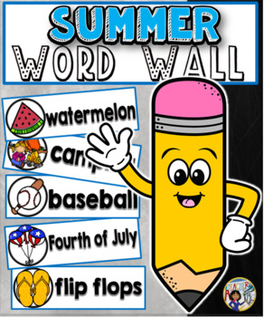 Summer Word Wall Cards Set