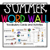 Summer Word Wall Vocabulary Cards and Activities