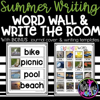 Summer Word Wall/Writing with REAL photos