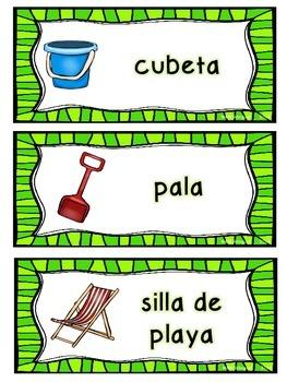 Summer Word Work *Bilingual Activities*