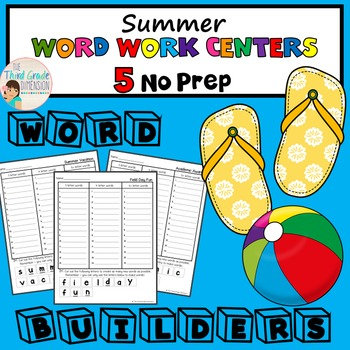 Summer Word Work Centers