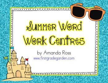 Summer Word Work Centres