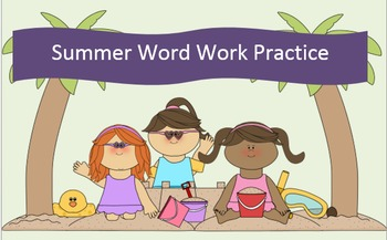 Summer Word Work Packets – 10 words no prep spelling packets (5)