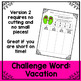 Summer Word Work and Literacy Center Activity