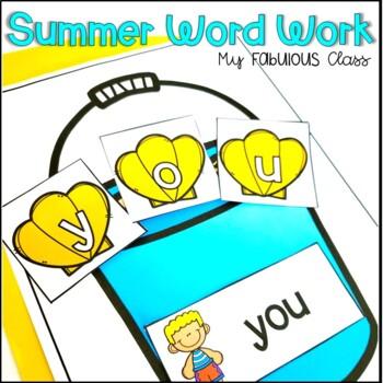 Summer Word Work for Kindergarten