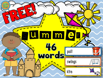 Summer - Word wall vocabulary (46) FREE!