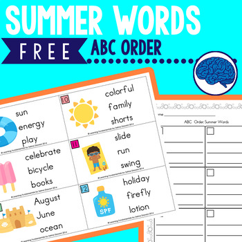 Summer Words ABC Order