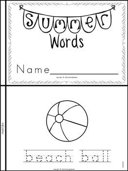 Summer Words Book