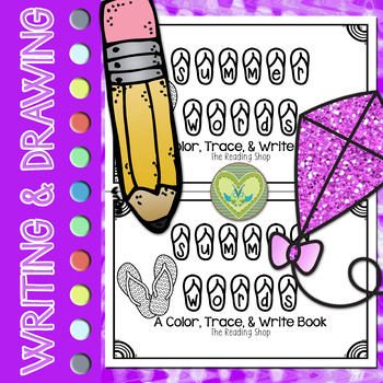 Summer Words Book - Color, Trace, & Write