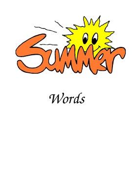 Summer Words Folder